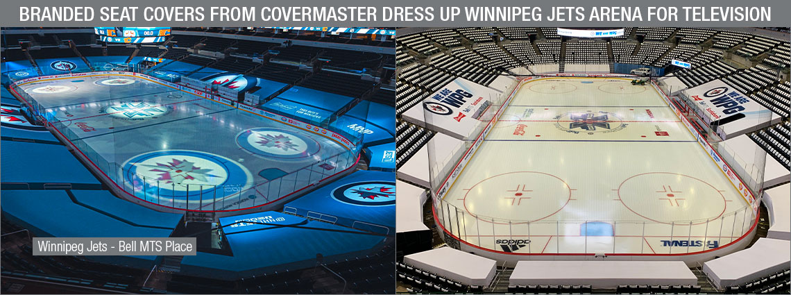 Branded Seat Covers From Covermaster Dress Up Winnipeg Jets' Arena for Television