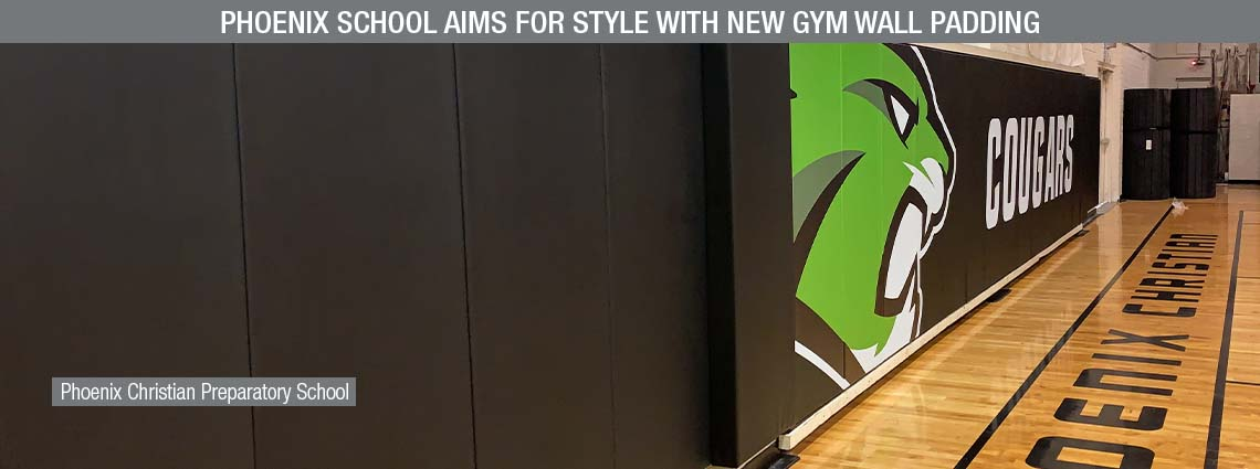 Phoenix School Aims for Style with New Gym Wall Padding