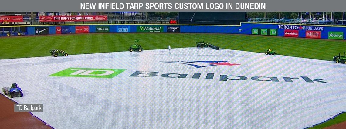 New Infield Tarp Sports Custom Logo in Dunedin
