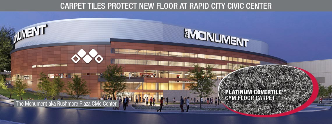 Carpet Tiles Protect New Floor at Rapid City Civic Center