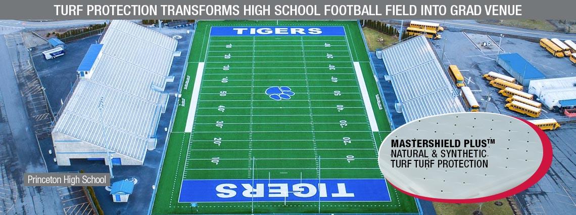 Turf Protection Transforms High School Football Field into Grad Venue