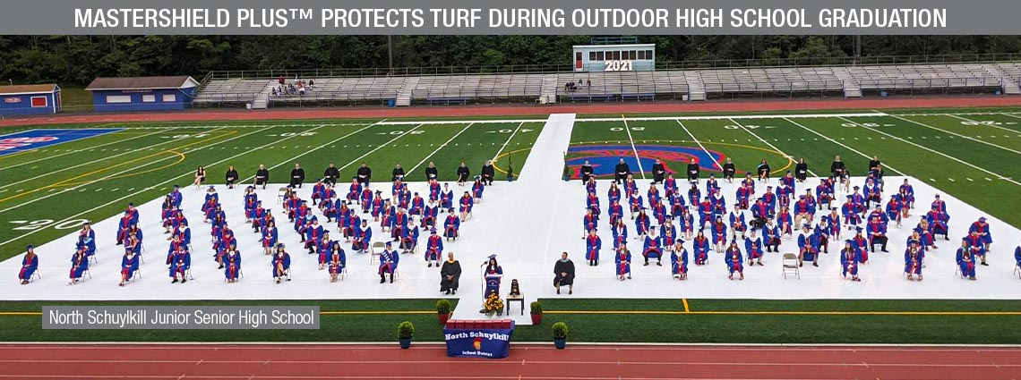 MasterShield Plus™ Protects Turf During Outdoor High School Graduation