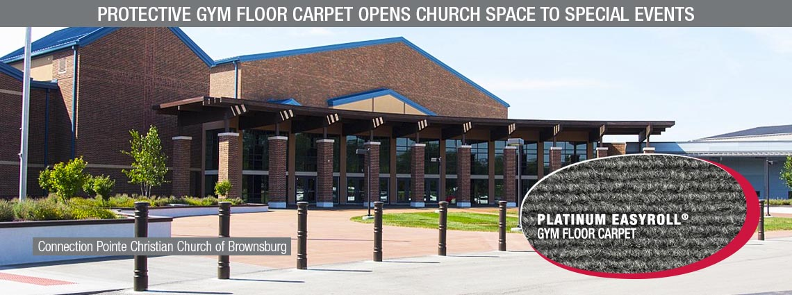 Protective Gym Floor Carpet Opens Church Space to Special Events