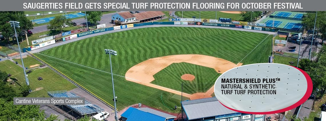 Saugerties Field gets Special Turf Protection Flooring for October Festival