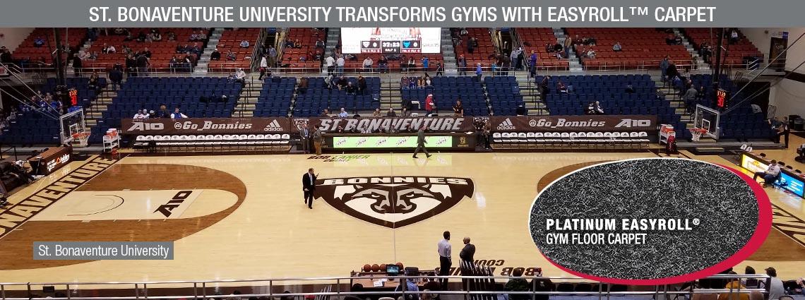 St. Bonaventure University Transforms Gyms with EASYROLL™ Carpet