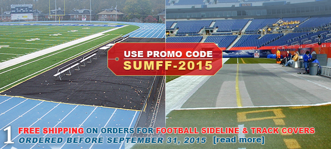 FREE SHIPPING ON ORDERS FOR FOOTBALL SIDELINE AND TRACK COVERS