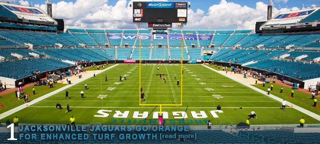 JACKSONVILLE JAGUARS GO ORANGE FOR ENHANCED TURF GROWTH