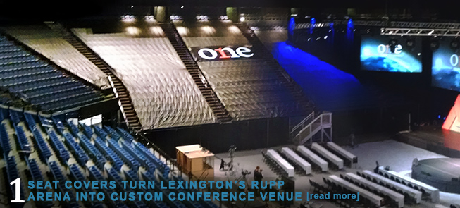 Seat Covers Turn Lexingtons Rupp Arena Into Custom Conference Venue