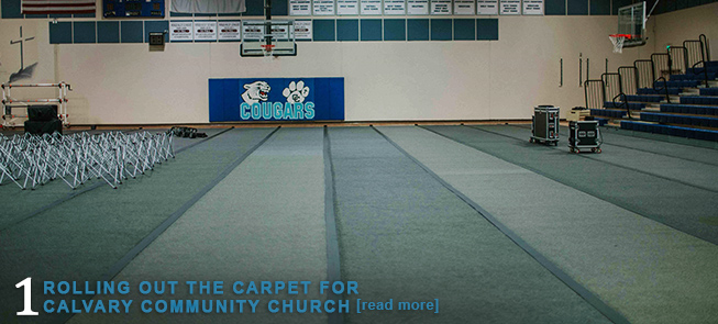 Rolling Out the Carpet for Calvary Community Church