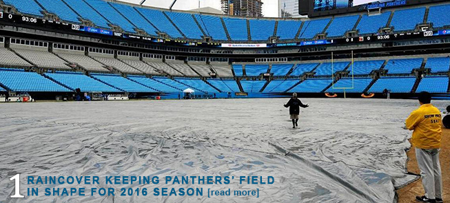 Raincover Keeping Panthers Field in Shape for 2016 Season