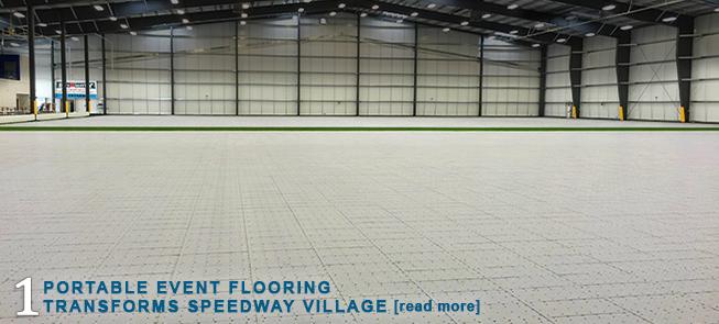 Portable Event Flooring Transforms Speedway Village