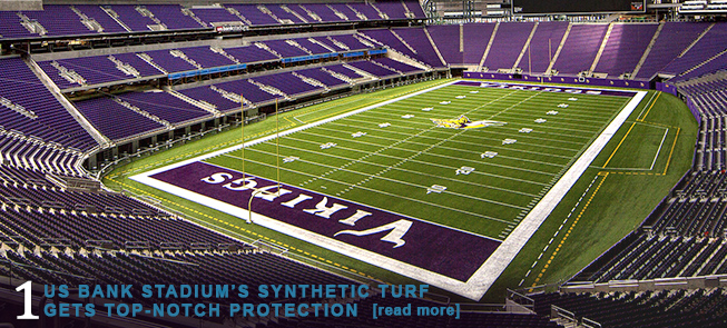 US Bank Stadiums Synthetic Turf Gets Top-Notch Protection