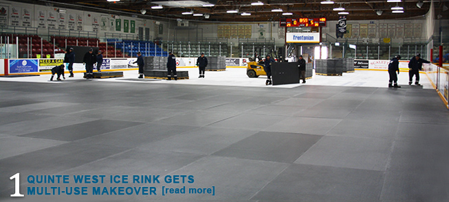 Quinte West Ice Rink Gets Multi-Use Makeover