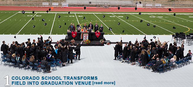 Colorado School Transforms Field Into Graduation Venue